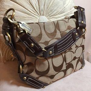 Coach satchel tan & brown bag